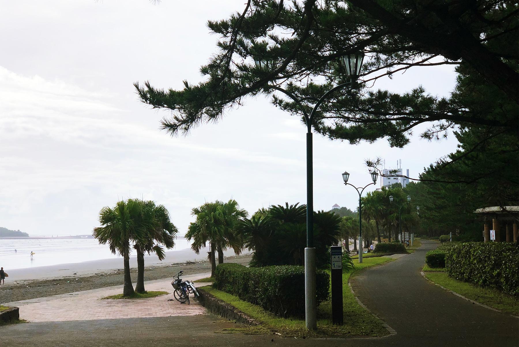 青島の遊歩道
